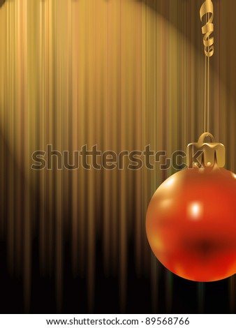 Christmas toys on a abstract background