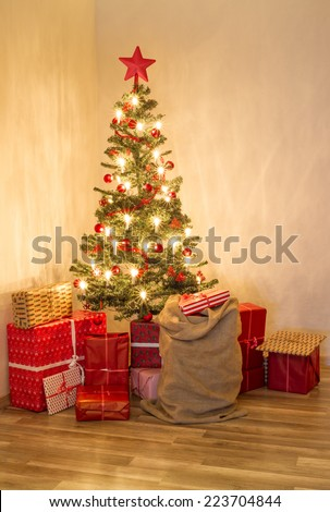 christmas tree 5 - stock photo