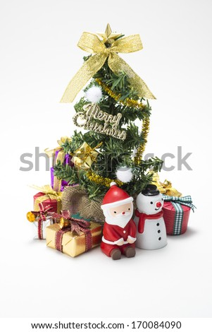 Christmas tree and many gift box - stock photo