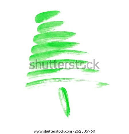 Christmas tree background - stock photo