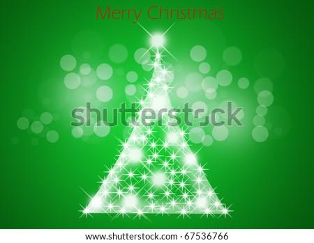 Christmas tree background. - stock photo