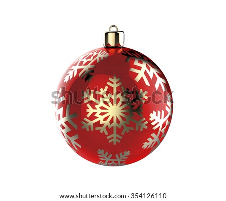 Christmas tree ball decoration