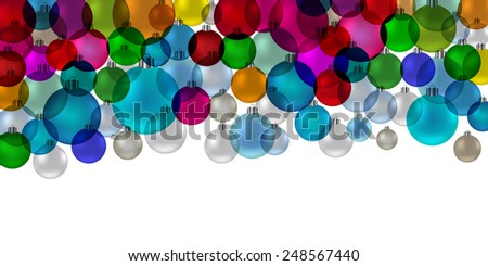 Christmas tree bauble vintage stained glass - stock photo