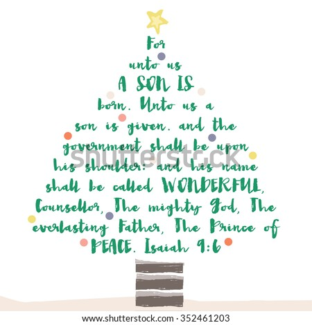 Christmas Tree Bible Verse Religious Christian Stock ...