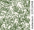 Christmas tree branches. Seamless pattern - stock photo