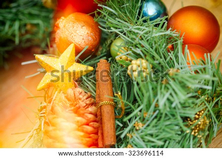 Christmas tree - Christmas decoration - stock photo