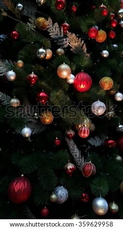 christmas tree close-up - stock photo