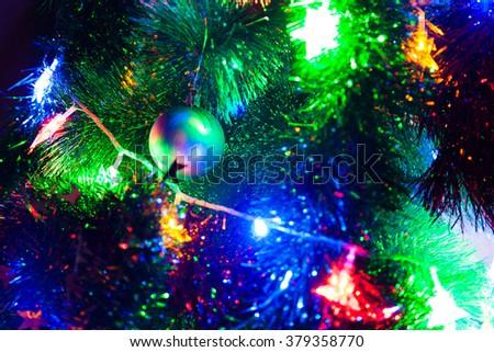 Christmas tree closely - stock photo