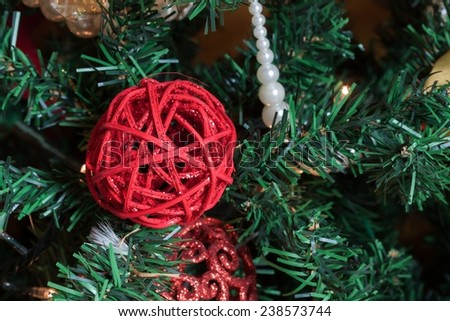 Christmas tree decoration - stock photo