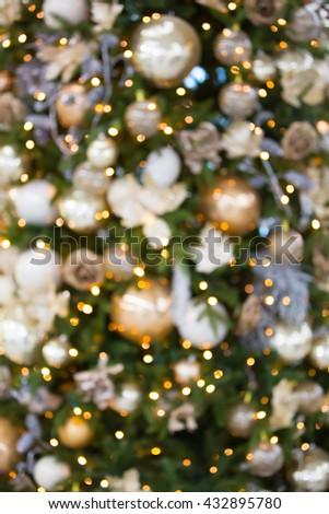 Christmas tree decoration, background - stock photo