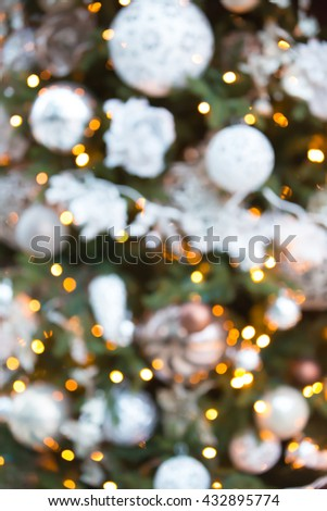 Christmas tree decoration, blurred background