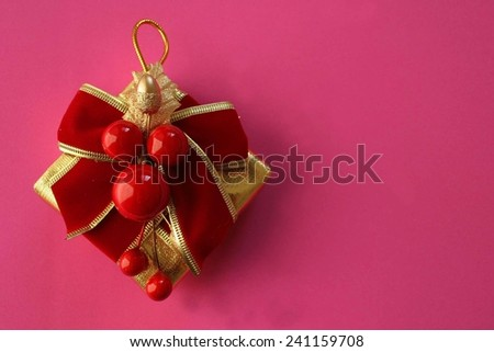 Christmas tree decoration - copy space - stock photo