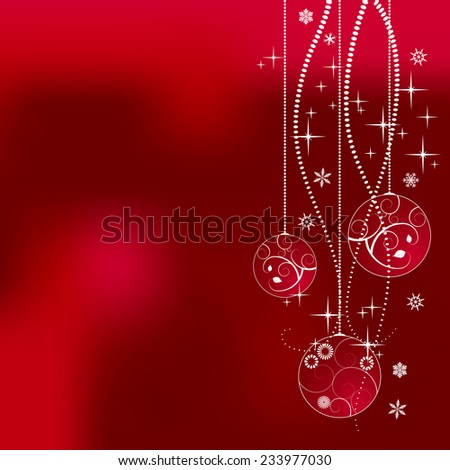 Christmas tree decoration - illustration - stock photo