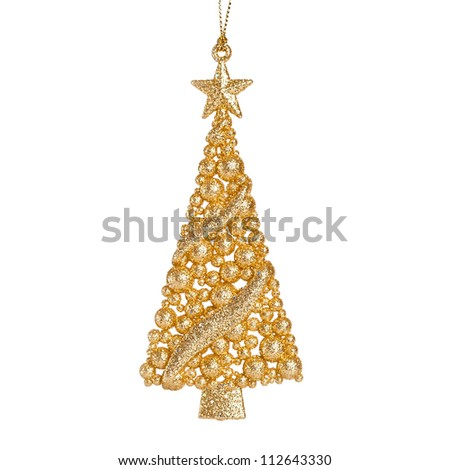 Christmas tree decoration isolated on white background - stock photo