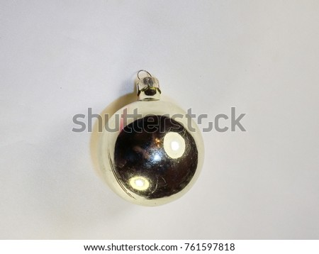 Christmas tree, decoration silver ball
