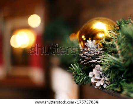 Christmas tree decoration toy gifts - stock photo