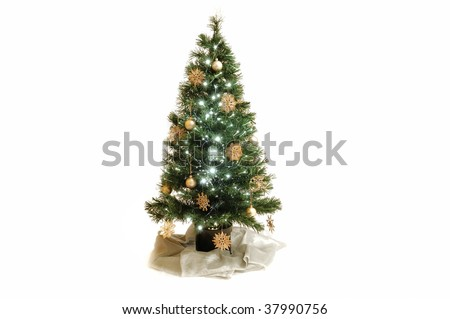 christmas tree gold