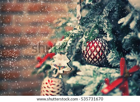 Christmas tree. Holiday background