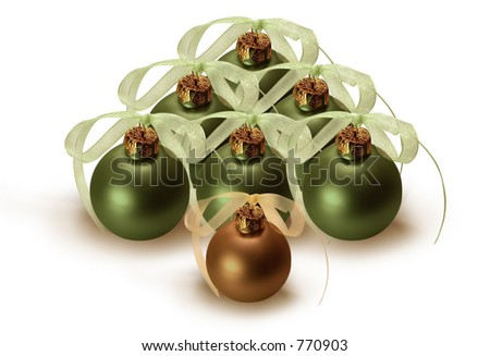 Christmas tree in bulbs. - stock photo