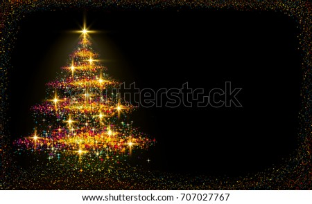 Christmas tree lights background.