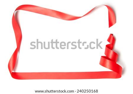 Christmas tree ribbon on a white background. - stock photo