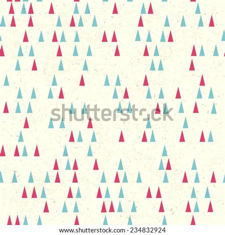 Christmas tree seamless pattern. Raster version - stock photo