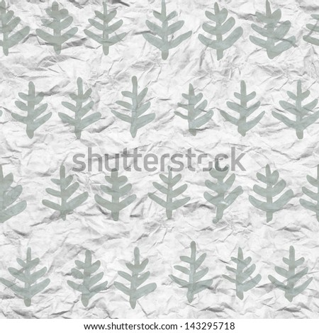 Christmas tree seamless watercolor illustration