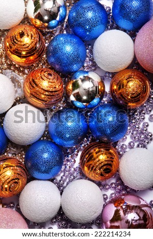 Christmas-tree sparkling decorations for beautiful holiday - stock photo