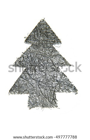 christmas tree symbol as very nice holiday background