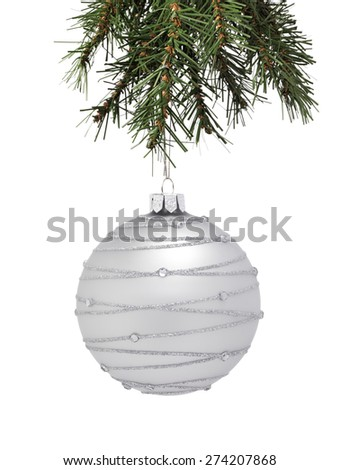 Christmas tree with a Bauble - stock photo