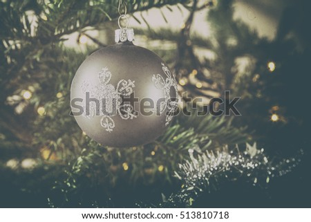 Christmas tree with bauble