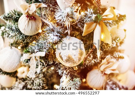 Christmas tree with Christmas decorations