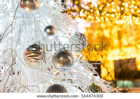 Christmas tree with decoration - stock photo