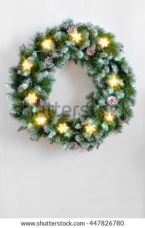 christmas tree with gifts isolated on white background