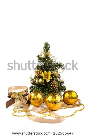 Christmas tree with toys and candles