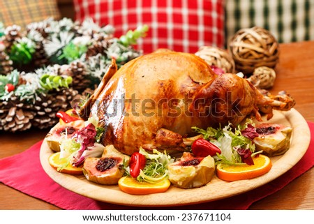 Christmas turkey - stock photo