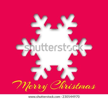 Christmas typography - stock photo