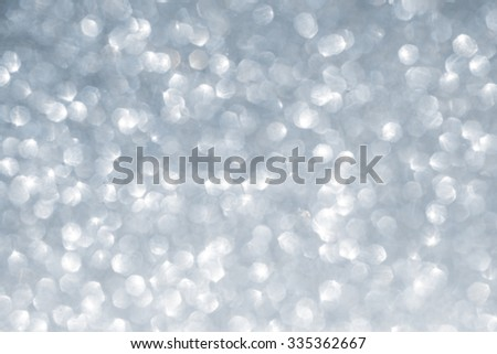 Christmas winter abstract silver sparkle glitter background