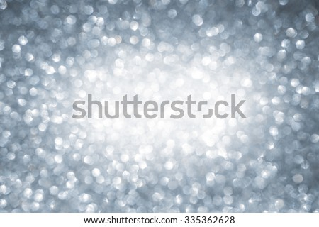 Christmas winter abstract silver sparkle glitter background with copy space - stock photo