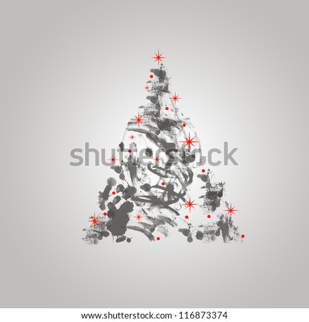 Christmas/winter background - stock photo