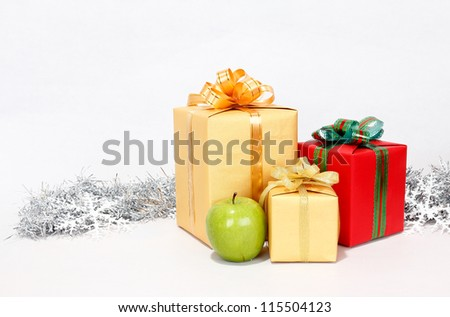 christmas  with decorative gift packages