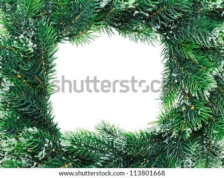 Christmas wreath framework, isolated on white - stock photo