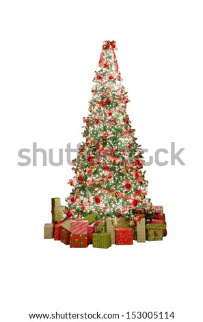 Christmas, xmas tree. Isolated on white. Vertical.