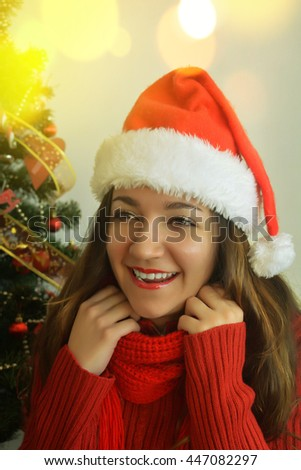 Christmas young woman