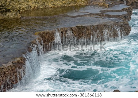 Christoffel Park - Views around the Caribbean island of Curacao - stock photo