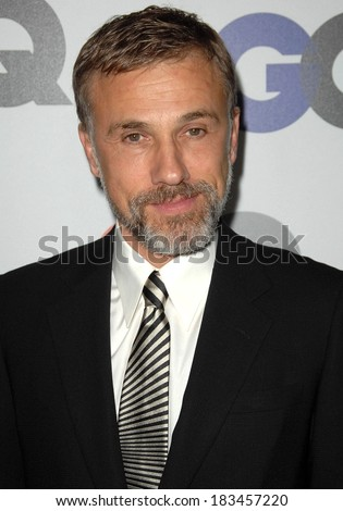 Christoph Waltz at Gentleman's Quarterly GQ Men of the Year Event, Chateau Marmont, Los Angeles, CA November 18, 2009  - stock photo