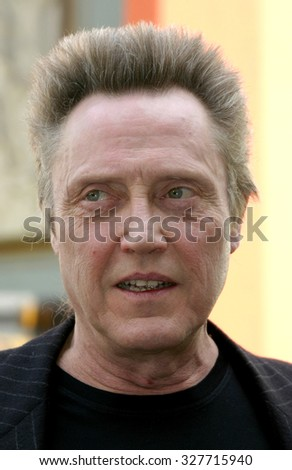 Christopher Walken Honored With A Hand & Footprints Ceremony held at the Grauman's Chinese Theatre in Hollywood, USA on October 8, 2004. - stock photo