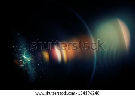 Chromatic aberration in the lens. Macro, high ISO - stock photo