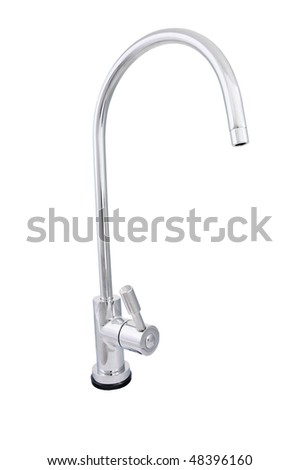 chrome tap water - stock photo