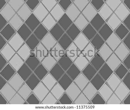 Chromed Argyle Design
